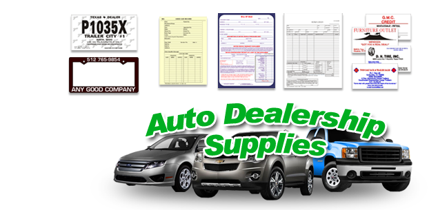 Used car dealer supplies caboose printing for Motor house auto sales