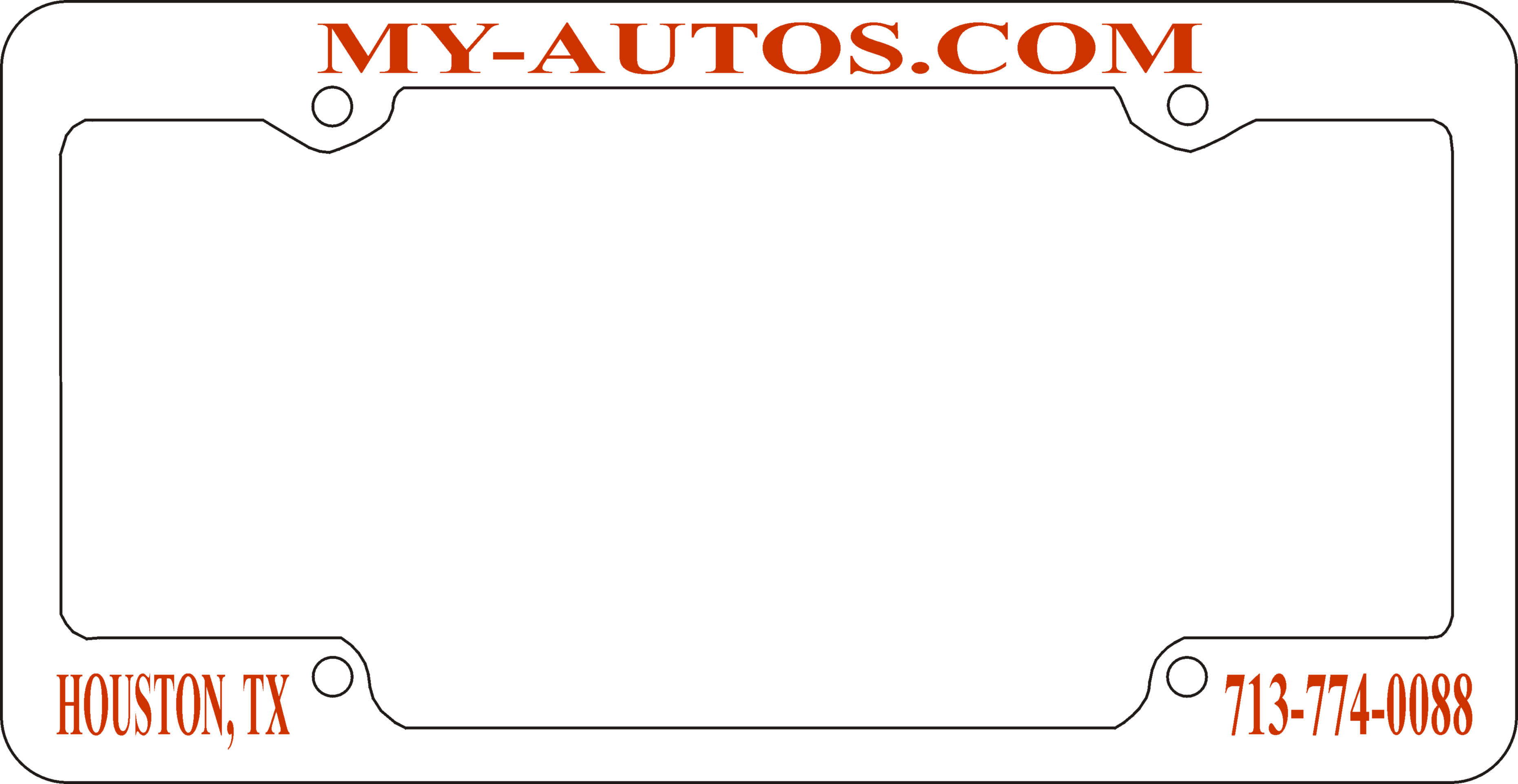 4 Hole White License Frames – Qty 500 | Caboose Printing