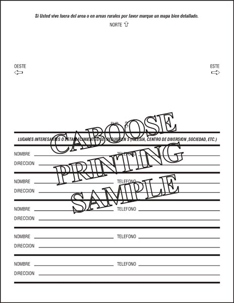 Spanish Credit Application  AdS  Package Of   Caboose Printing